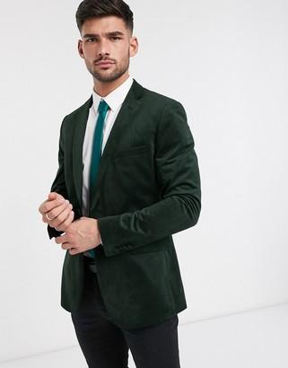 French Connection velvet slim fit peak lapel jacket