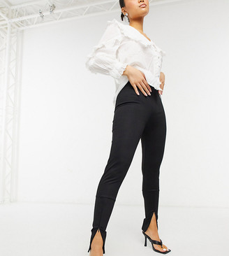 Only Petite leggings with ankle zips in black