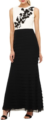 Phase Eight Leila Layer Dress, Ivory/Black