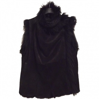 Meteo Black Fur Coats