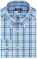 Izod Men's Regular Fit Multi Check Buttondown Collar Dress Shirt