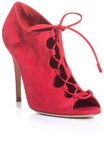 Suede lace-up shoe boots