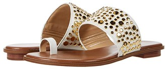 MICHAEL Michael Kors Sonya Studded Sandal (Optic White) Women's Shoes