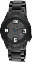 JCPenney Armitron Mens Black Stainless Steel Watch