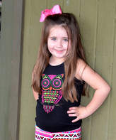 Beary Basics Black & Pink Owl Tank - Infant, Toddler & Girls