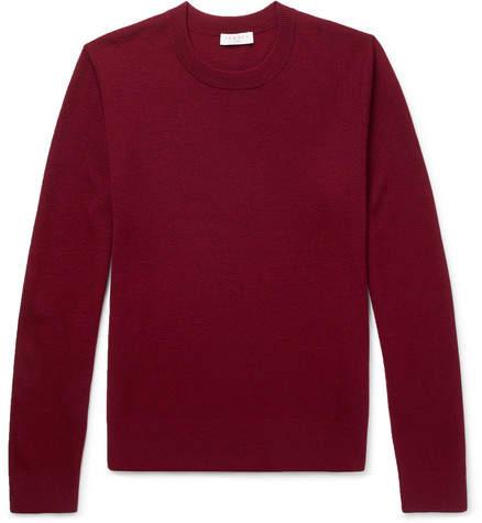 Sandro Slim-Fit Textured-Knit Wool-Blend Sweater