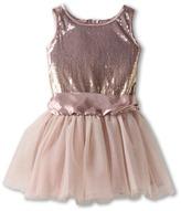 Biscotti Time To Sparkle Tutu Dress (Toddler) (Cocoa) - Apparel
