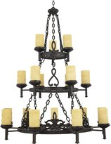 Quoizel LP5018IB La Parra 18-Light Chandelier with Candella Scavo Glass Shade...