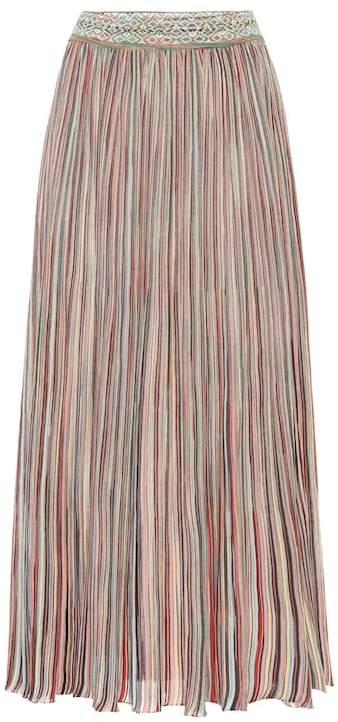 Missoni Striped cotton-blend midi skirt