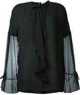 3.1 Phillip Lim semi-sheer ruffled blouse - women - Silk - 6