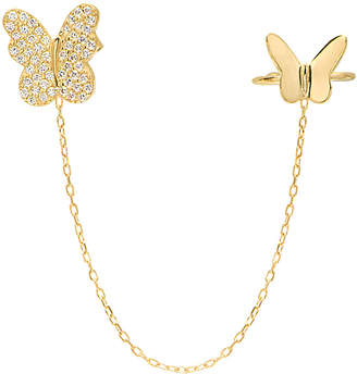GABIRIELLE JEWELRY Gold Over Silver Cz Ear Cuff