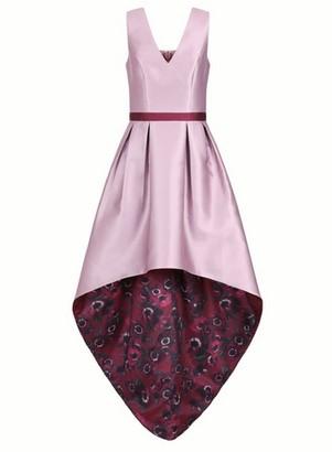 Dorothy Perkins Womens Chi Chi London Mink Floral Printed Dip Hem Dress