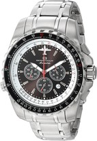 Thumbnail for your product : Oceanaut Men's Aviador Pilot Stainless Steel Quartz Watch with Stainless-Steel Strap Silver 22 (Model: OC0111)