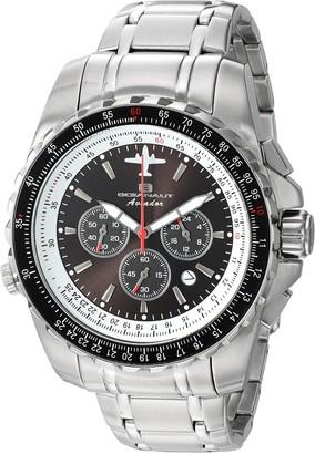 Oceanaut Men's Aviador Pilot Stainless Steel Quartz Watch with Stainless-Steel Strap Silver 22 (Model: OC0111)