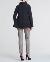 Giorgio Armani Leather Ankle Pants, Beige