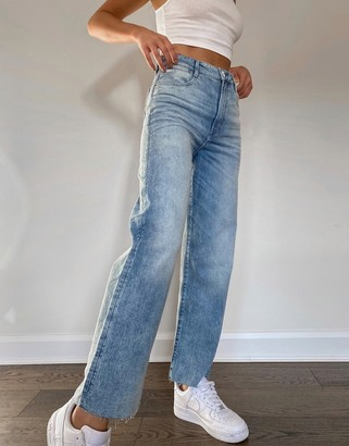 G Star G-Star Tedie ultra high waisted straight jean in midwash blue