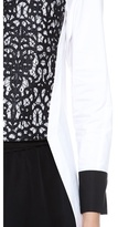 Robert Rodriguez Lace Tuxedo Shirt