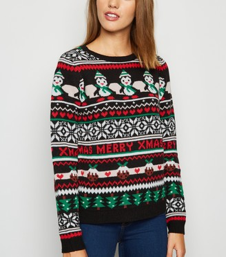 New Look Fair Isle Christmas Jumper