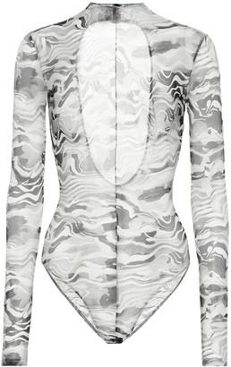 Thierry Mugler Printed bodysuit