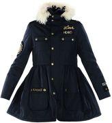 RED Valentino Fur Hood Raincoat