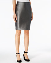 Tommy Hilfiger Faux-Leather Straight Skirt