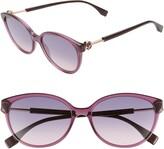 Fendi 57mm Round Cat Eye Sunglasses
