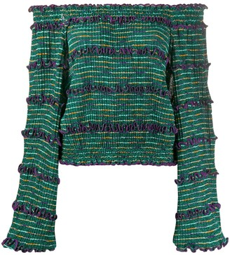 Missoni Off-The-Shoulder Knitted Top