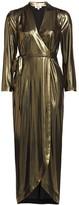L'Agence Reliah Lame Wrap Dress