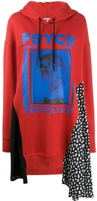 Mcq Swallow Graphic Print Panelled Sweater Dress