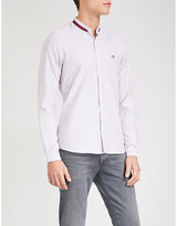 The Kooples Striped slim-fit cotton-poplin shirt