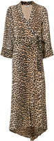 Ganni leopard print wrap maxi dress