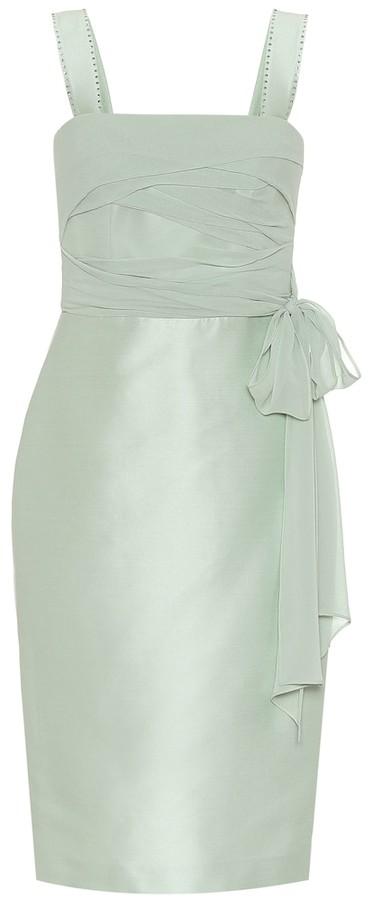 Max Mara Bardies cotton and silk sheath dress