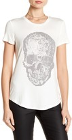 Romeo & Juliet Couture Crew Neck Studded Skull Tee