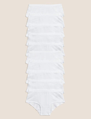 Marks and Spencer 10 Pack Cotton With Stretch Shorts (2-16 Years)