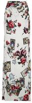 Roberto Cavalli Tarot Card Floral Print Maxi Skirt