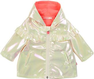 Billieblush Girl's Iridescent Raincoat w/ Jersey Lining, Size 12M-3