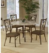 Hillsdale Furniture Brookside 5-piece round Dining Set w/ oval Back Chairs
