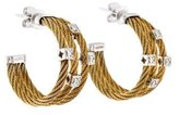 Charriol Classique Two Tone Diamond Cable Hoop Earrings