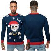 Loyalty And Faith Mens Novelty Knitted Christmas Jumper Santa 3D Xmas Sweater Top