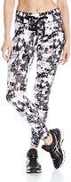 Danskin Women's Abstract Ankle Legging Withtie