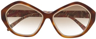 Emilio Pucci Pre Owned Round Frame Sunglasses