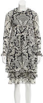 Anna Sui Silk Printed Dress
