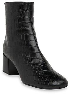 Whistles Women's Elora Croc Block Heel Boots