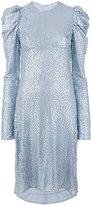 Nina Ricci puffy longsleeve embellished dress - women - Silk - 38