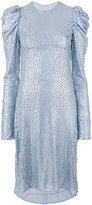 Nina Ricci puffy longsleeve embellished dress