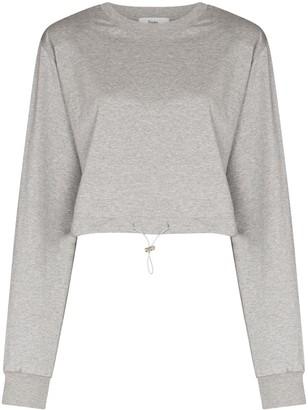 Frankie Shop Drawstring Hem Cropped Sweatshirt