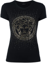 Versace crystal-embellished Medusa t-shirt - women - Spandex/Elastane/Viscose - 36