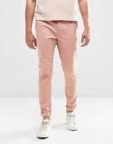 Asos Skinny Chinos In Pink