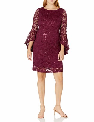 Ronni Nicole Women's Bell Sleeve Lace Shift
