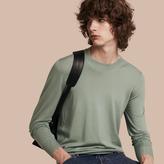 Burberry Crew Neck Merino Wool Sweater